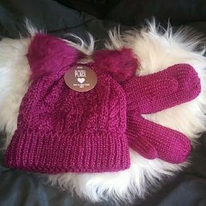 Other - Toddler Girl Hat & Glove Set